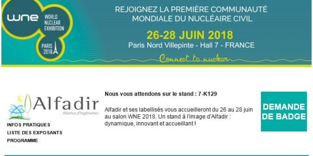 World Nuclear Exhibition 2018
