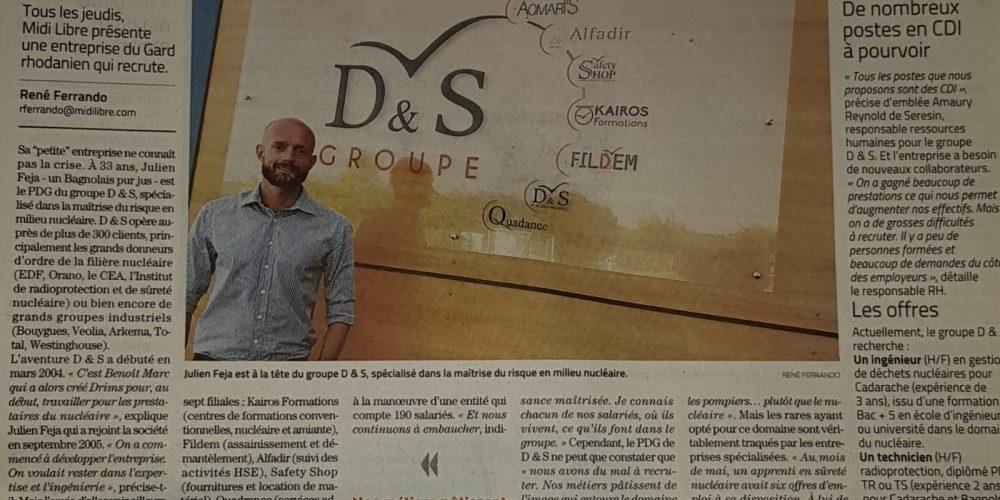 Le Groupe D&S dans le journal !