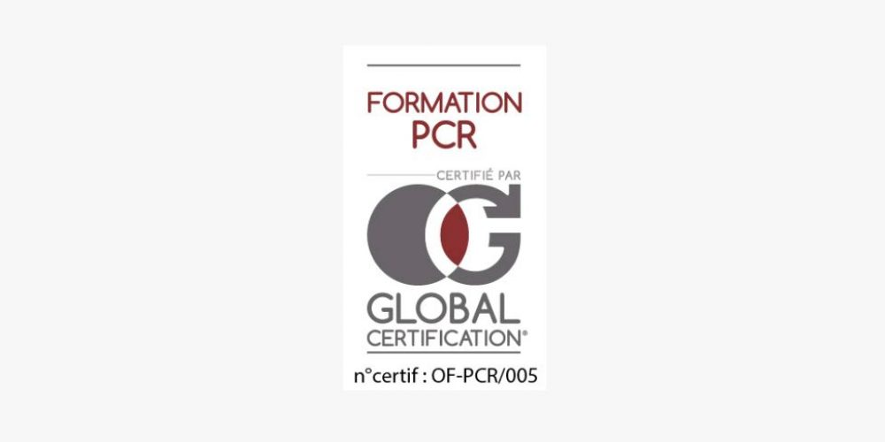 """Certification """"Formation PCR"""""""